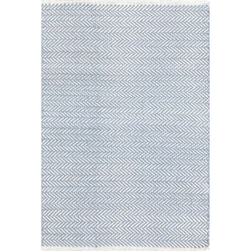 Dash and Albert Rugs Herringbone Hand Woven Blue Area Rug & Reviews | Wayfair