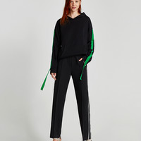 TROUSERS WITH SIDE STRIPE DETAILS