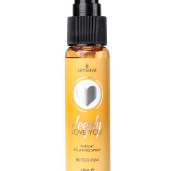 Deeply Love You Throat Relaxing Spray - 1 Oz Bottle Butter Rum