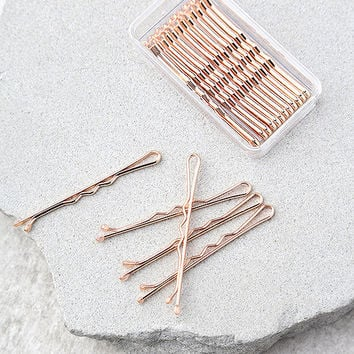 ban.do Everyday Bobbis Rose Gold Bobby Pins