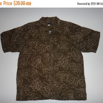 New Year Sale PATAGONIA Vintage Hawaii Organic Cotton Beach Surf Button Down