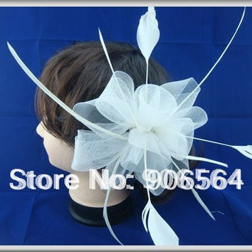 Multiple color feather fascinator hats,good quality bridal hats,good for wedding,party,1pcs/lot,free shipping!RMSF005