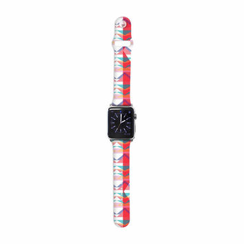 "Miranda Mol ""Triangle Illusion"" Multicolor Geometric Apple Watch Strap"