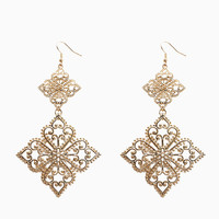 Double Diamond Filigree Drop