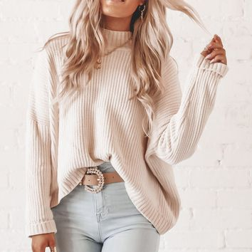 Cheer Up Buttercup Cream Chenille Sweater