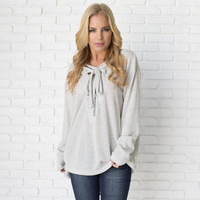 Tie It Up Knit Sweater Top