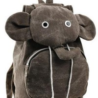Cute Canvas Elephant Design Backpack