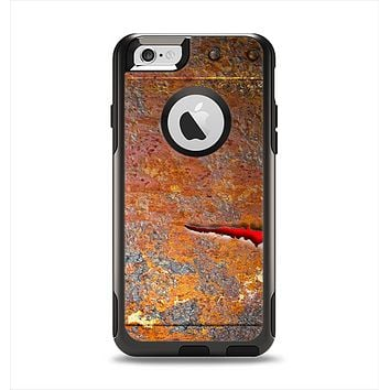 The Rusty Metal with Jagged Edge Apple iPhone 6 Otterbox Commuter Case Skin Set