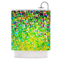 "Ebi Emporium ""Holiday Cheer"" Yellow Green Shower Curtain"