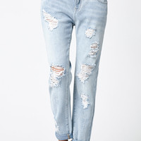 Bullhead Denim Co. Canal Blue Ripped Skinny Boyfriend Jeans at PacSun.com