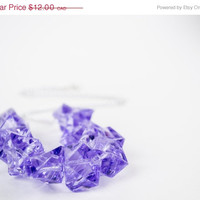 SPRING SALE SALE - Purple Iced Bling Stone Necklace