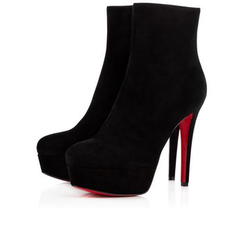 Christian Louboutin Cl Bianca Booty Black Suede 16w Ankle Boots 3160752bk01 - Best Online Sale