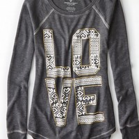 AEO 's Thermal Graphic T-shirt (Ebony Grey)