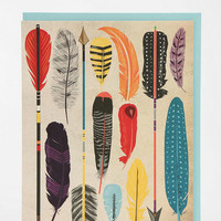 Urban Outfitters - Paper Source Feather & Arrow Card - Set Of 8
