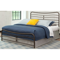 Stratus Carbon Steel Folding Bed Frame with Headboard & Footboard
