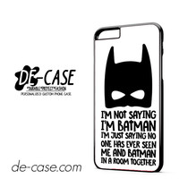 Batman Marvel Superhero Batman Quotes DEAL-1498 Apple Phonecase Cover For Iphone 6 / 6S Plus