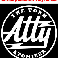 """Vape - Atty RDA Logo 5"""" Vinyl Window Decal - Available in White/Red/Black/Alien Green/Silver - Free Shipping!"""