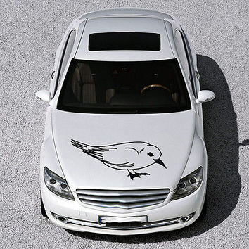 BEAUTIFUL BIRD ANIMAL ART DESIGN HOOD CAR VINYL STICKER DECALS MURALS SV1269