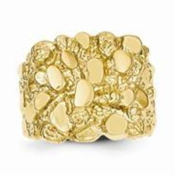 14k Yellow Gold Men's Nugget Ring