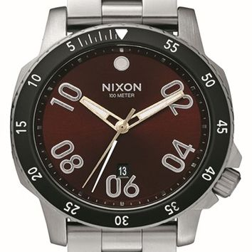 Men's Nixon 'The Ranger' Bracelet Watch, 44mm - Silver/ Brown Sunray
