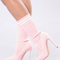 Little League Knit Boot - Pink