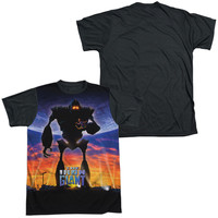 IRON GIANT/GIANT POSTER-S/S ADULT WHITE FRONT BLACK BACK  -WHITE-SM