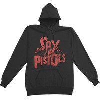 Sex Pistols Men's  Band Logo Hooded Sweatshirt Charcoal