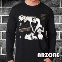 5sos Shirt 5 Second Of Summer Amnesia Logo Shirt 5sos Long Sleeve Printed Black Color Unisex Size - AR49