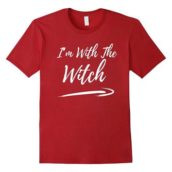 Halloween Couples Costume Shirt I'm With The Witch