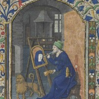 ST LUKE PAINTING THE VIRGIN, miniature on a leaf from a Book of Hours, in Latin, <span style='font-size:9'>ILLUMINATED MANUSCRIPT ON VELLUM</span>, [Paris, c.1455] | Old Master & British Paintings Auction | Books & Manuscripts, medieval & renaissance manus