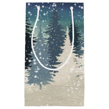 Winter Forest and snow Small Gift Bag