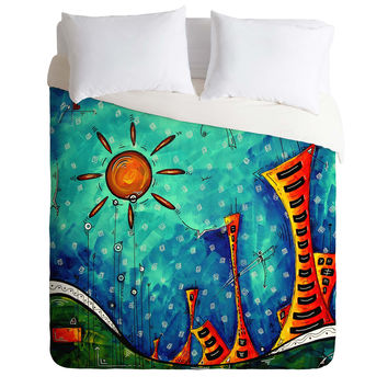 Madart Inc. Funky Town Duvet Cover