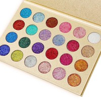 24 Colors Pressed Glitter Palette