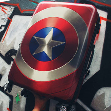 20/24/28 inch High quality cool Captain America trolley case ABS+PC Travel luggage rolling suitcase men business Boarding box