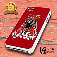 Alabama Crimson Tide NCAA Football Sparkly Glitter for iphone, ipod, samsung galaxy, HTC and Nexus PHONE CASE