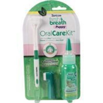 Tropiclean-Fresh Breath Oral Care Kit For Puppies 4 Ounce