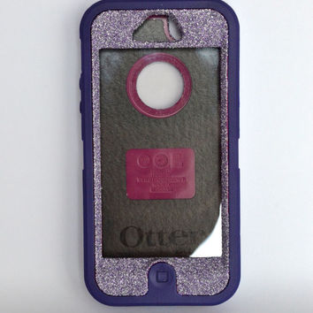 Otterbox Case iPhone 5 Glitter Cute Sparkly Bling Defender Series Custom Case purple sapphire/purple