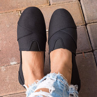 Spring Canvas Shoes - Black