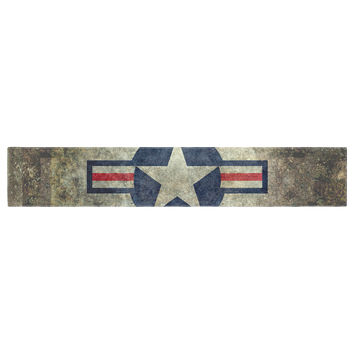 "Bruce Stanfield ""USAF Vintage Retro Style Round"" Vintage Digital Table Runner"