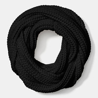 Solid Chunky Infinity Scarf