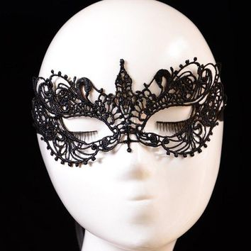 Embellished Elastic Hair Band Party Mask