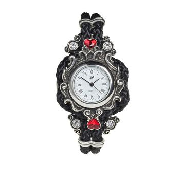 Alchemy Gothic Affiance Swirly w/ Hearts Watch