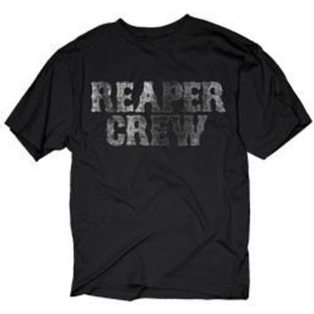 Sons of Anarchy Stacked Reaper Crew Black Distressed Adult T-shirt  - Sons of Anarchy - | TV Store Online