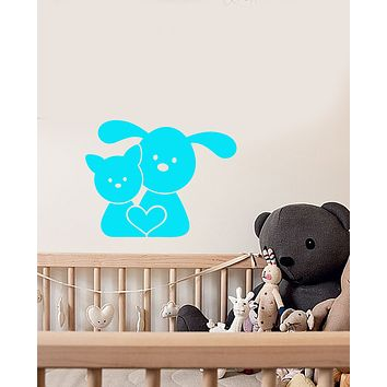 Vinyl Wall Decal Pets Puppy Kitten Dog And Cat Home Animals Stickers (3893ig)