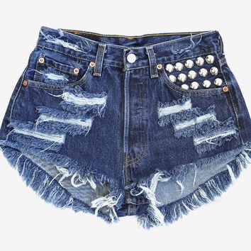 450 Studded Dark Vintage Shorts