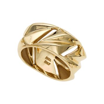 14k Yellow Gold Womens Band Ring, Size 7