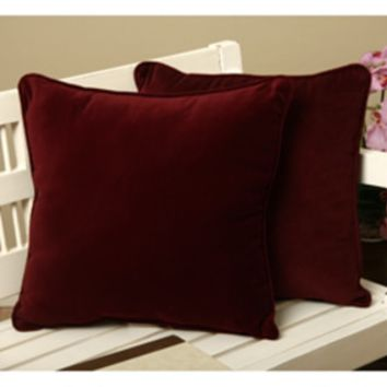 Cotton Velvet Decorative Pillows (Set of 2) | Overstock.com Shopping - The Best Deals on Throw Pillows
