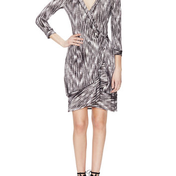 BCBGMAXAZRIA Women's Alberta The Wrap Dress - Black -
