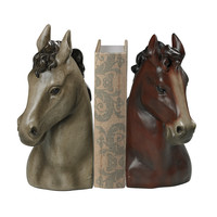Horse Head Bookends-Horse Head Book Ends