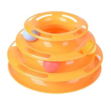 Funny Cat Pet Toy High Quality Funny Cat Pet Toy Intelligence Play Disc Cat Toy Balls